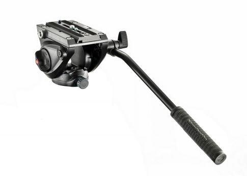 Tripod dan Monopod Manfrotto Lightweight Fluid Tripod Video head with Flat Base - MVH500AH 1 manfrotto_fluid_video_head_mvh500ah_a