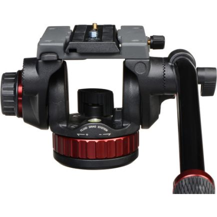 Tripod dan Monopod Manfrotto PRO Tripod Video Head 100 with Fluid Drag - MVH502AH 2 manfrotto_fluid_video_head_mvh502ah_
