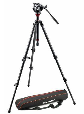 Tripod dan Monopod Manfrotto Tripod with fluid video head and Carbon Legs MVH500AH,755CX3 1 manfrotto_tripod_with_fluid_video_head__mvh500ah755cx3