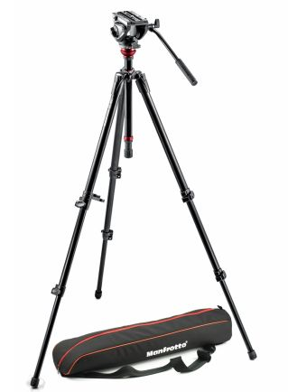 Tripod dan Monopod Manfrotto Lightweight tripod with fluid video head and aluminium legs MVH500AH,755XBK 1 manfrotto_tripod_with_fluid_video_head__mvh500ah755xbk
