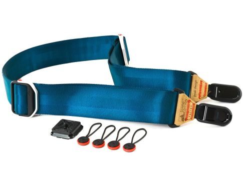 Case and Strap Peak Design Camera Strap Slide - Tallac Navy - Tan 1 peak_design_strap_slide_navy_taskameraid_1