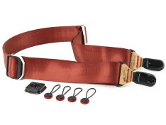 Case and Strap Peak Design Camera Straps Slide - Lassen Red / Tan