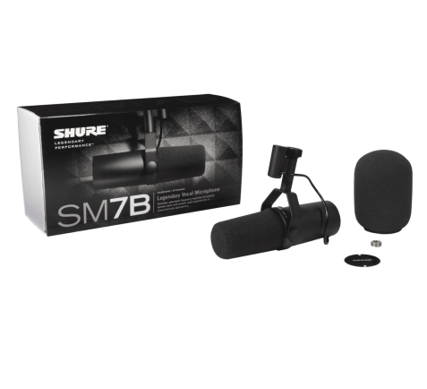 Earphone, Headphone & Mic SHURE SM7B Dynamic Studio Vocal Microphone 7 shure_sm7b_mic_taskameraid__8