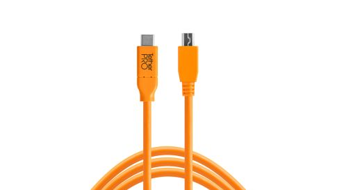 Tether Cables and Acc TetherPro USB-C to 2.0 Mini-B 5-Pin - Tether Tools Cable 1 tether_tools_usb_c_to_mini_b_5_pin__1
